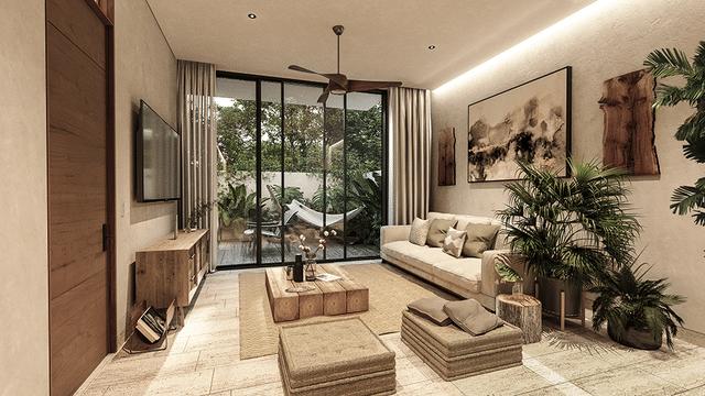 Living room en Botánica Tulum